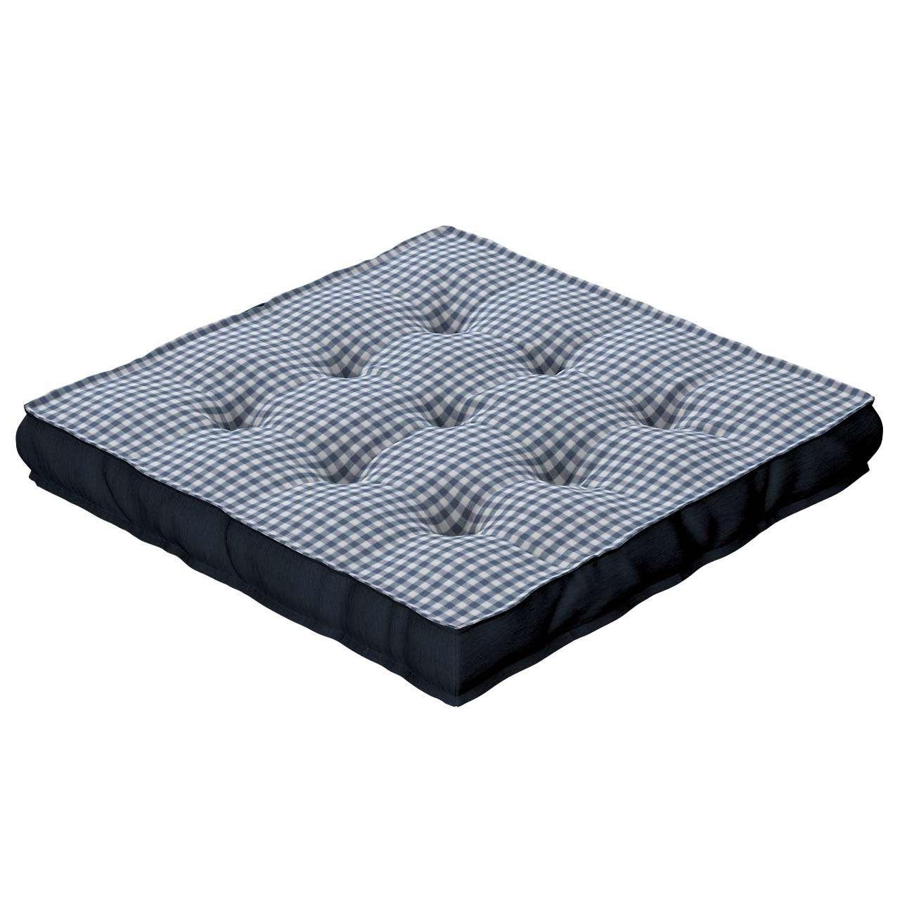 Pagalvėlė Kuba kėdei/ant grindų 40 x 40 x 6 cm kolekcijoje Quadro, audinys: 136-00