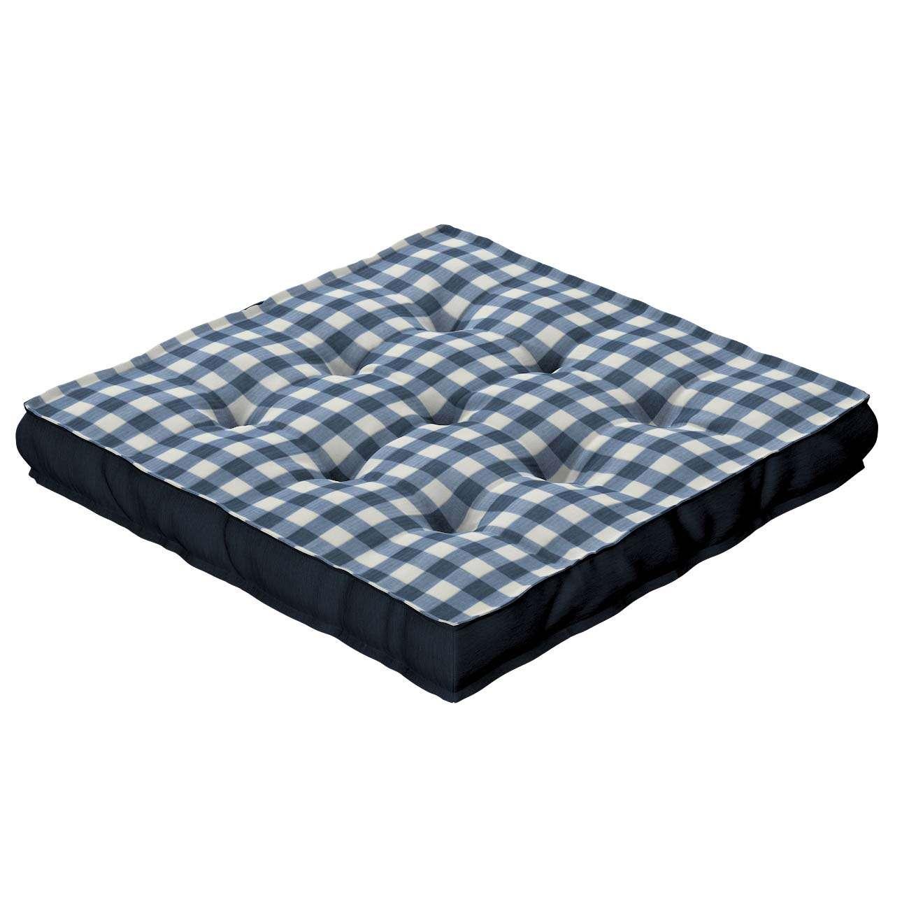 Pagalvėlė Kuba kėdei/ant grindų 40 x 40 x 6 cm kolekcijoje Quadro, audinys: 136-01