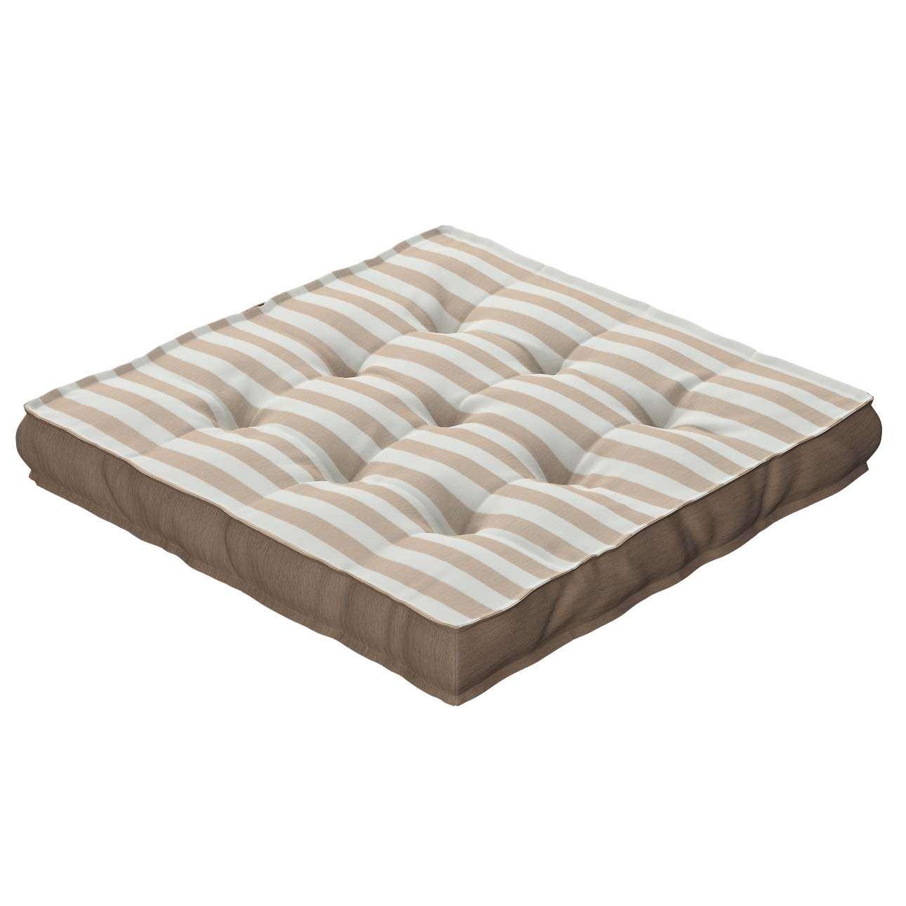 Pagalvėlė Kuba kėdei/ant grindų 40 x 40 x 6 cm kolekcijoje Quadro, audinys: 136-07