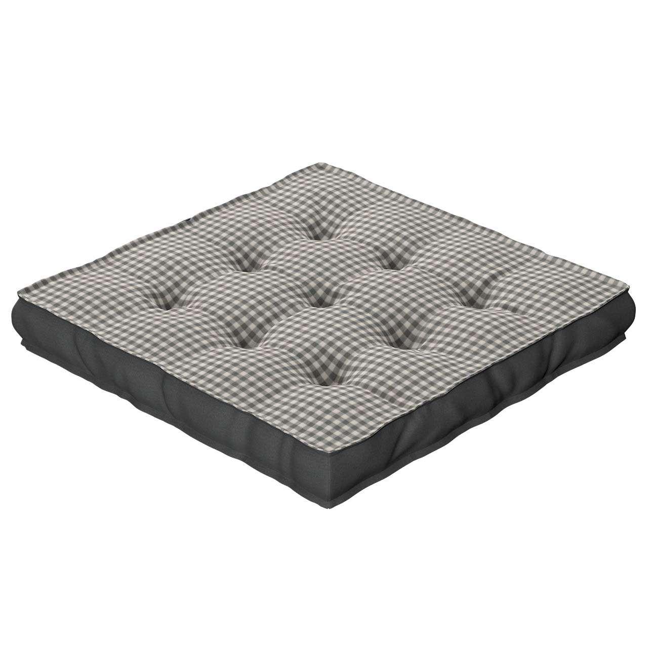 Sitzkissen Jacob mit Handgriff 40 x 40 x 6 cm von der Kollektion Quadro, Stoff: 136-10