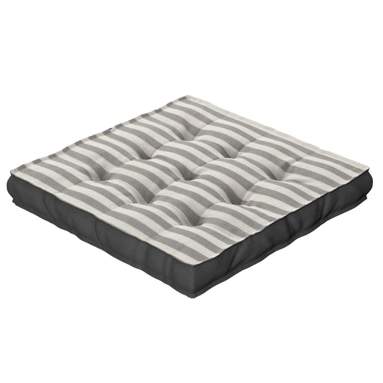 Sitzkissen Jacob mit Handgriff 40 x 40 x 6 cm von der Kollektion Quadro, Stoff: 136-12