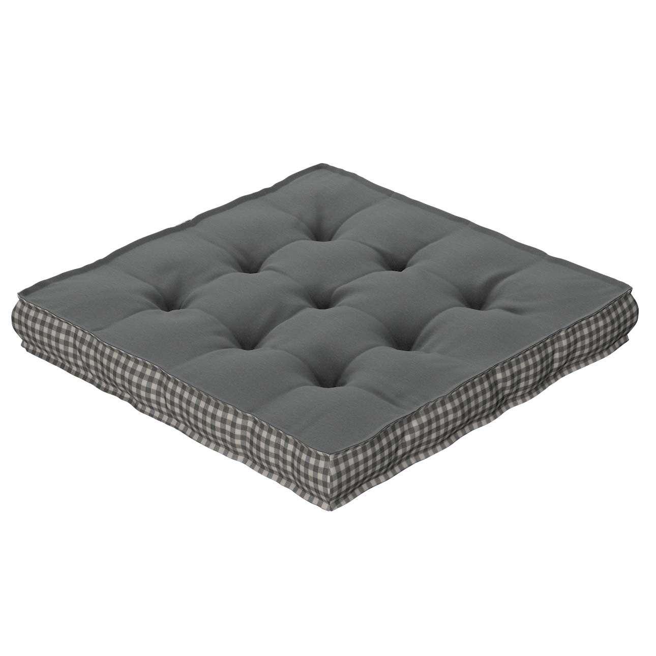 Sitzkissen Jacob mit Handgriff 40 x 40 x 6 cm von der Kollektion Quadro, Stoff: 136-14