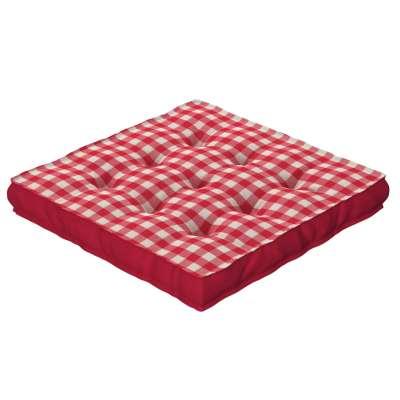 Jacob ülőpárna füllel 136-16 piros-ekrü Méteráru Quadro Lakástextil