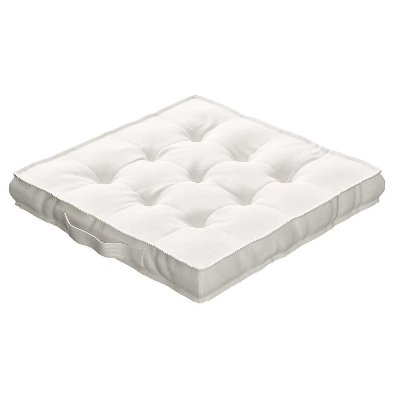 Sitzkissen Jacob mit Handgriff 40 x 40 x 6 cm von der Kollektion Cotton Panama, Stoff: 702-34