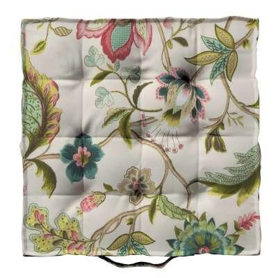Sedák Kuba s úchytem 40x40x6cm nebo 50x50x10cm 122-00 pohádkové květy na světlém podkladu Kolekce Londres