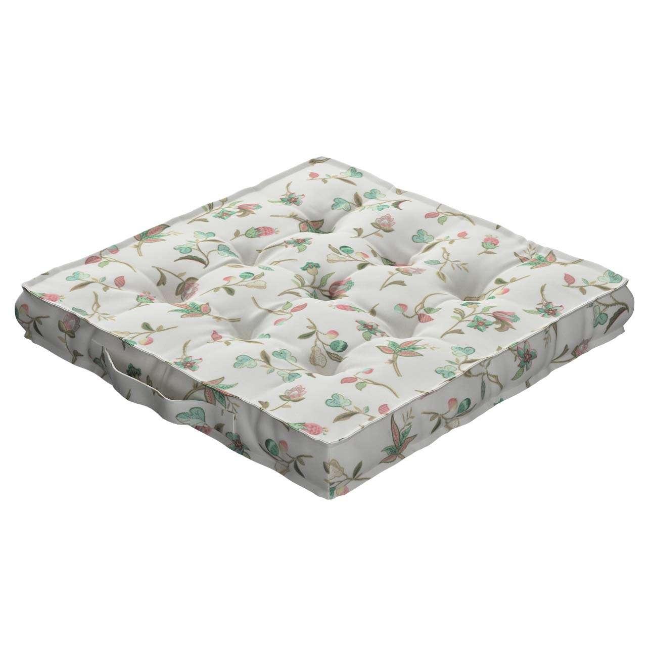 Pagalvėlė Kuba kėdei/ant grindų 40 x 40 x 6 cm kolekcijoje Londres, audinys: 122-02