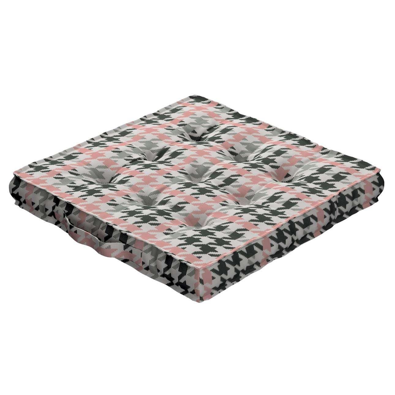 Pagalvėlė Kuba kėdei/ant grindų 40 x 40 x 6 cm kolekcijoje Brooklyn, audinys: 137-75