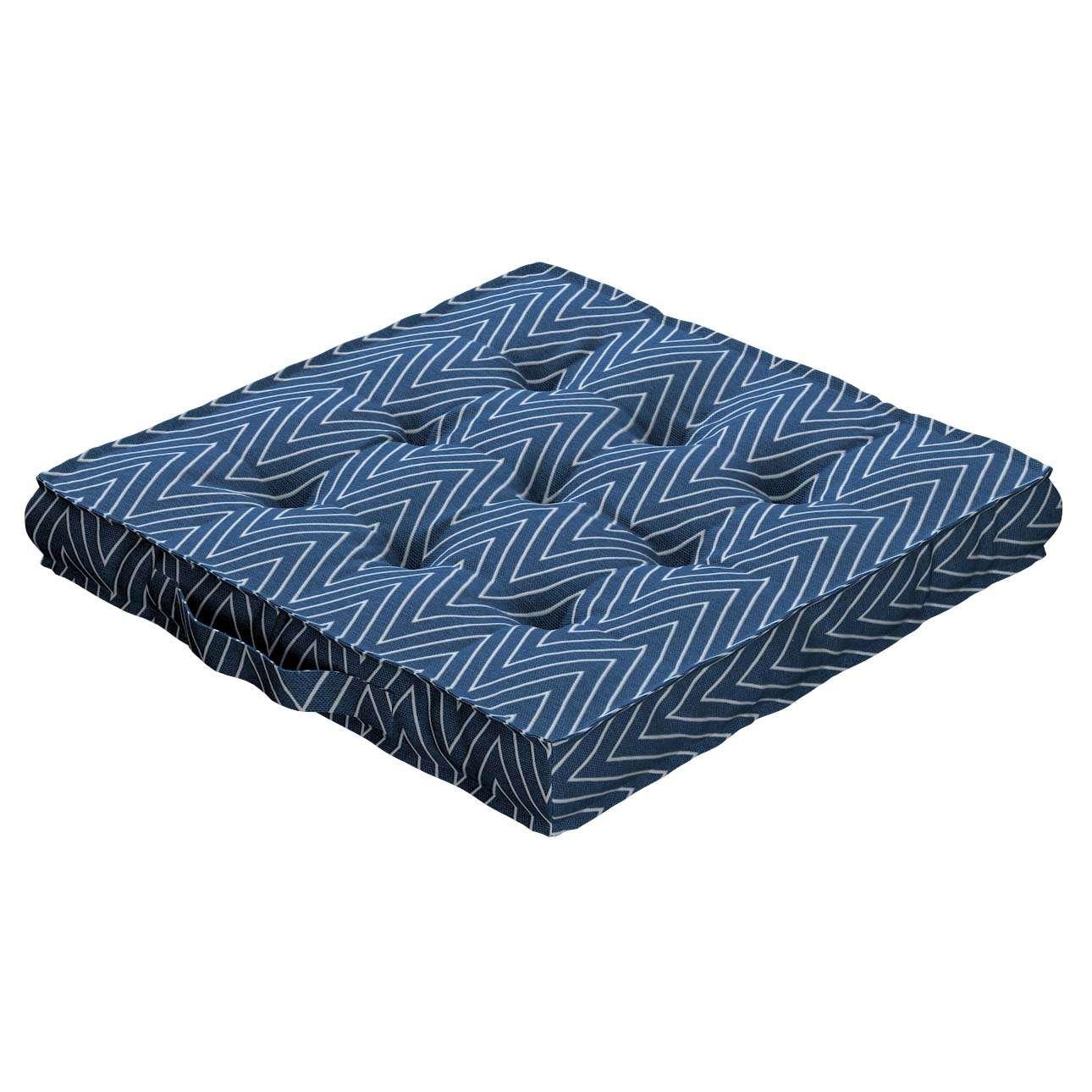 Pagalvėlė Kuba kėdei/ant grindų 40 x 40 x 6 cm kolekcijoje Brooklyn, audinys: 137-88