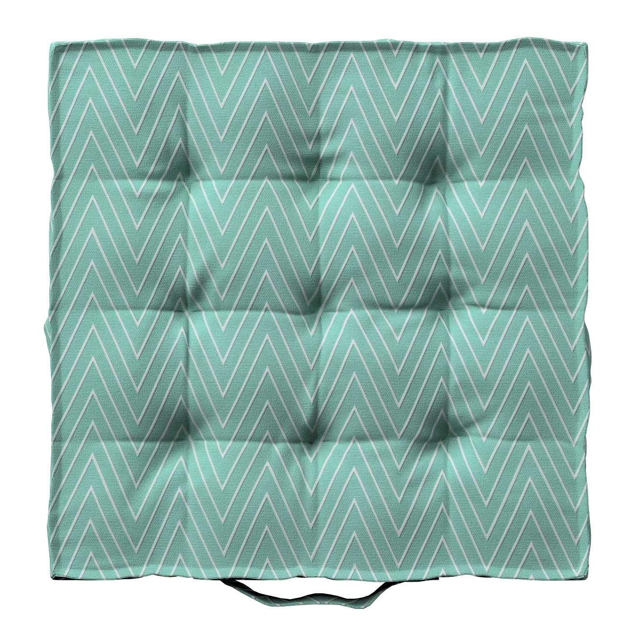 Pagalvėlė Kuba kėdei/ant grindų 40 x 40 x 6 cm kolekcijoje Brooklyn, audinys: 137-90