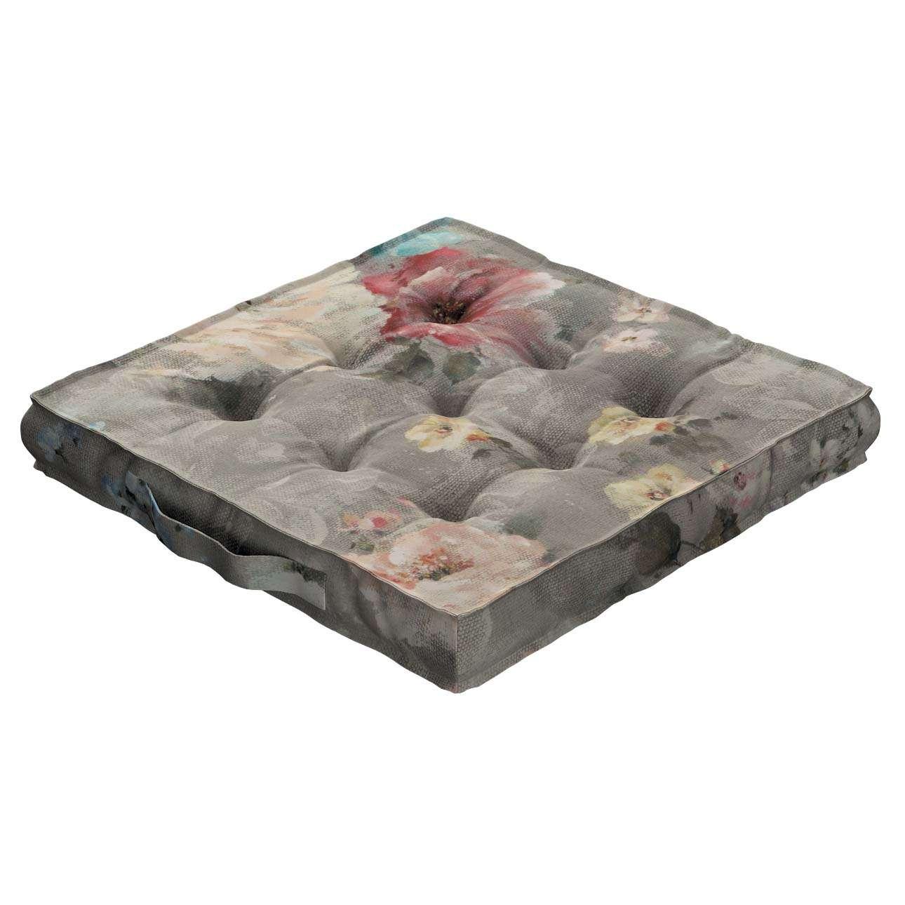 Pagalvėlė Kuba kėdei/ant grindų 40 x 40 x 6 cm kolekcijoje Monet, audinys: 137-81