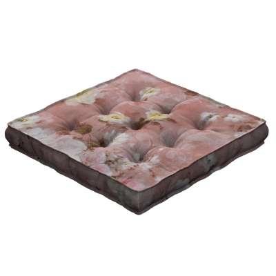 Kamil s úchytom 137-83 krémove a ružové kvety na tmavo ružovom podklade Kolekcia Flowers