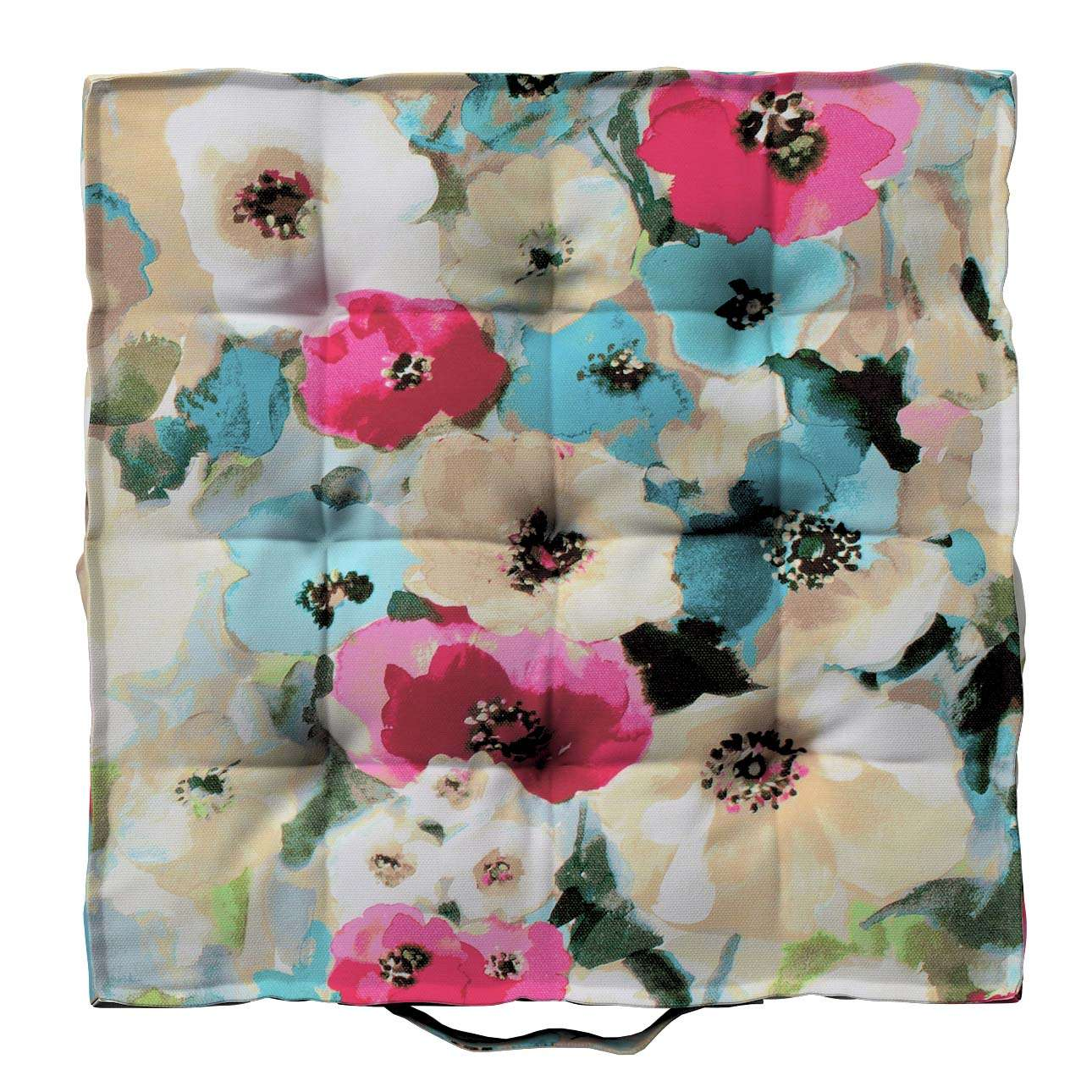 Jacob seat pad/floor cushion in collection Monet, fabric: 140-08