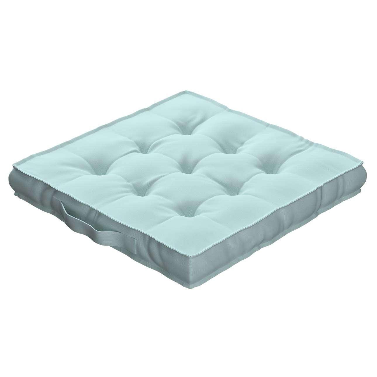 Sitzkissen Jacob mit Handgriff 40 x 40 x 6 cm von der Kollektion Cotton Panama, Stoff: 702-10