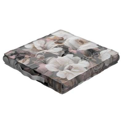 Kamil s úchytom 142-13 svetlé kvety na sivom podklade so svetlo ružovou a béžovou Kolekcia Gardenia