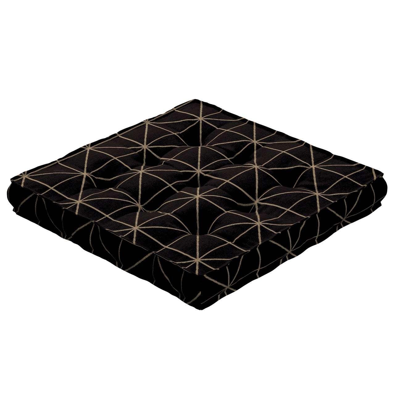 Siedzisko Kuba na krzesło w kolekcji Black & White, tkanina: 142-55