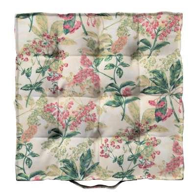 Siedzisko Kuba na krzesło 143-41 różowo-beżowe rośliny na tle ecru Kolekcja Londres