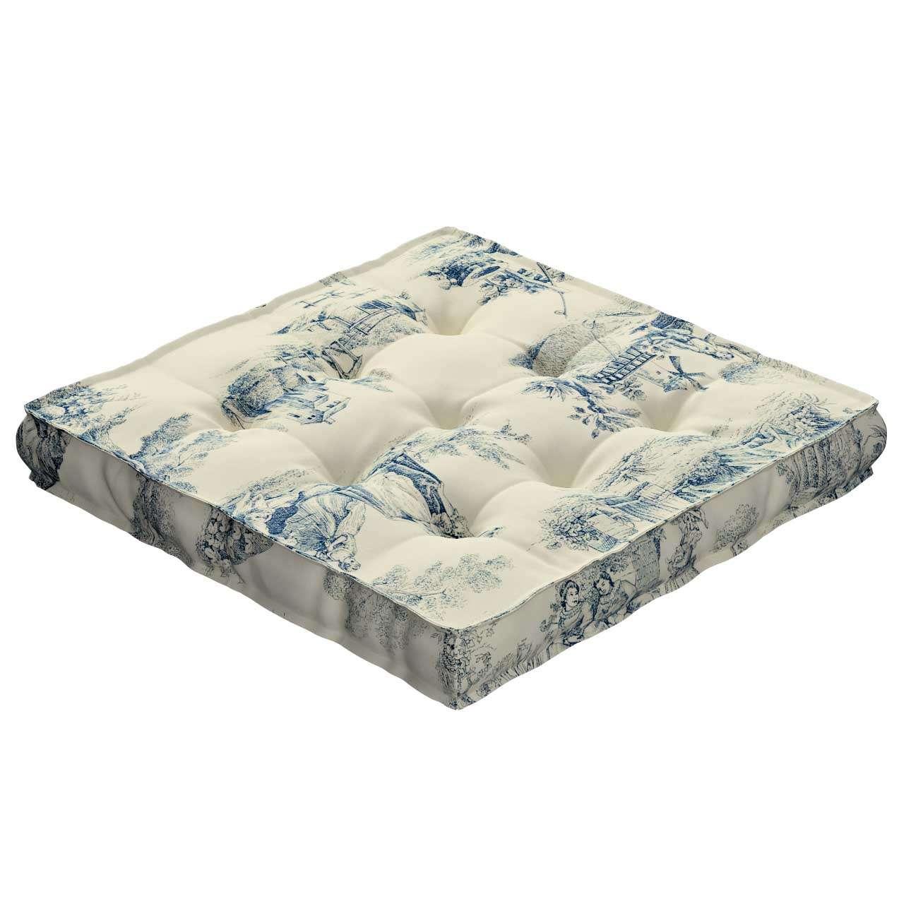Pagalvėlė Kuba kėdei/ant grindų 40 x 40 x 6 cm kolekcijoje Avinon, audinys: 132-66