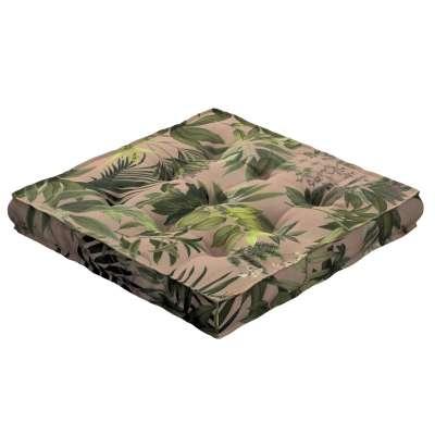 Siedzisko Kuba na krzesło 143-71 zielona roślinność na brudnoróżowym tle Kolekcja Tropical Island