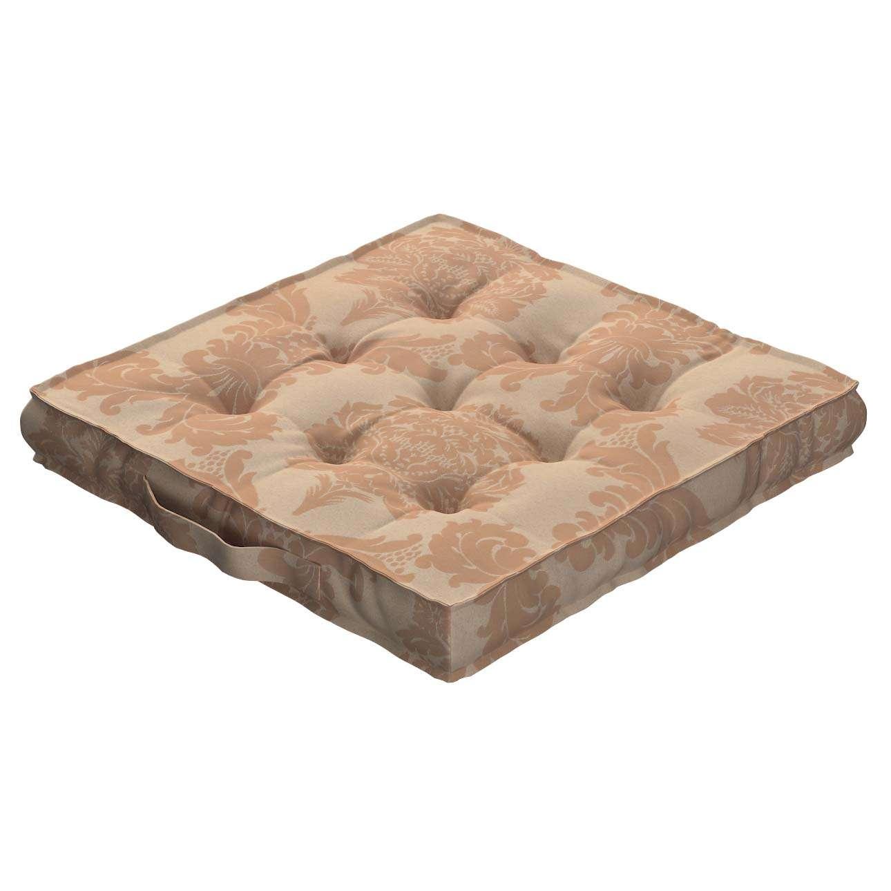 Siedzisko Kuba na krzesło 40x40x6cm w kolekcji Damasco, tkanina: 613-04