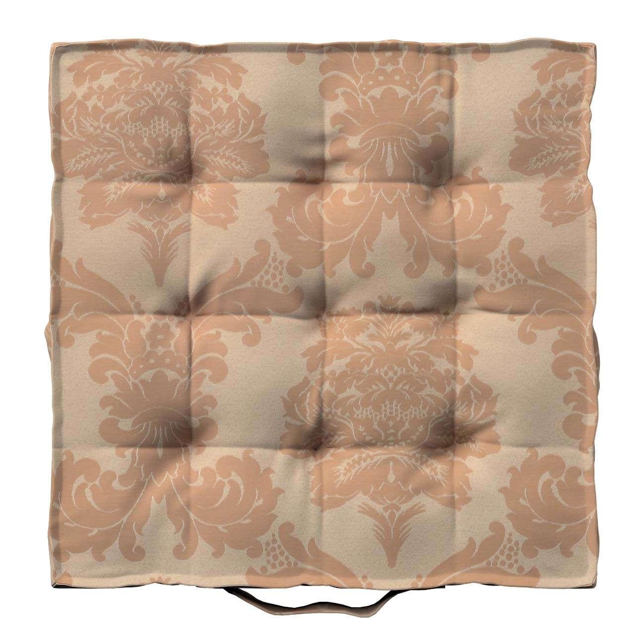 Pagalvėlė Kuba kėdei/ant grindų 40 x 40 x 6 cm kolekcijoje Damasco, audinys: 613-04