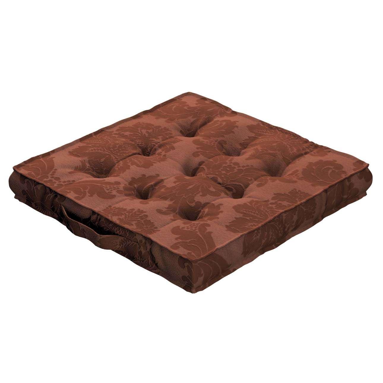 Pagalvėlė Kuba kėdei/ant grindų 40 x 40 x 6 cm kolekcijoje Damasco, audinys: 613-88