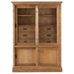 Vitrine Chantal mit 6 Schubladen und Türen