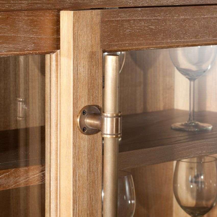 Vitrine Chantal mit 6 Schubladen und Türen 115x40x159cm