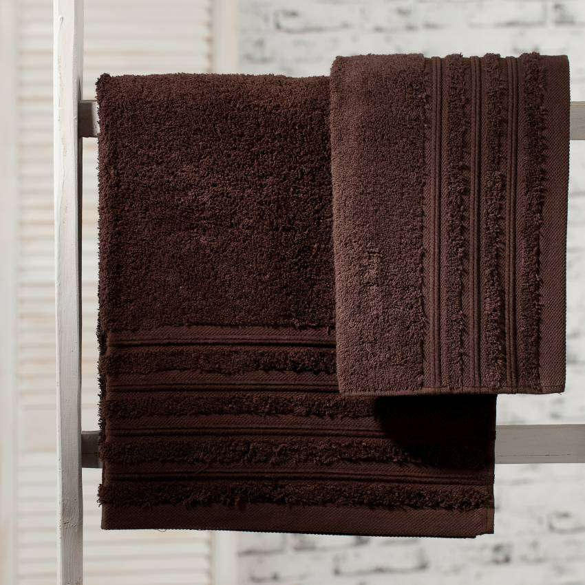 Aveiro Collection Towel - Chocolate 50x90cm