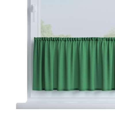 Slot valance (lower pelmet) by the metre 133-18 dark green Collection Loneta