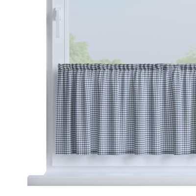 Slot valance (lower pelmet) by the metre 136-00 navy blue and white check (0.5cm x 0.5cm) Collection Quadro