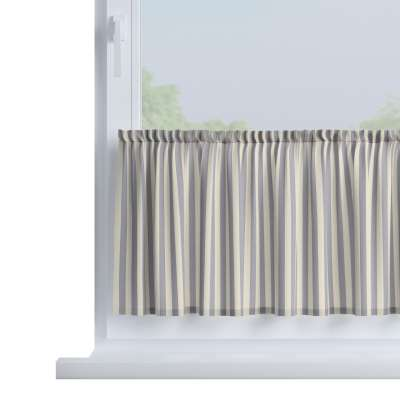 Slot valance (lower pelmet) by the metre 136-02 navy blue and white stripes (1.5cm) Collection Quadro