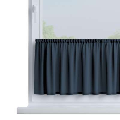 Slot valance (lower pelmet) by the metre 136-04 navy blue Collection Quadro