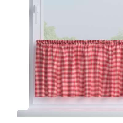 Slot valance (lower pelmet) by the metre 136-15 red and white check (0.5cm x 0.5cm) Collection Quadro