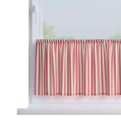 Slot valance (lower pelmet) by the metre 136-17 red and white stripes (1.5cm) Collection Quadro
