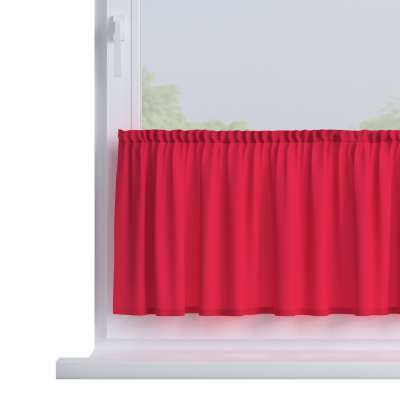 Slot valance (lower pelmet) by the metre 136-19 red Collection Quadro