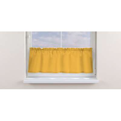 Slot valance (lower pelmet) by the metre 133-40 sunny yellow Collection Loneta