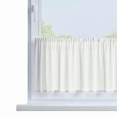 Slot valance (lower pelmet) by the metre 900-01 ivory Collection Voile