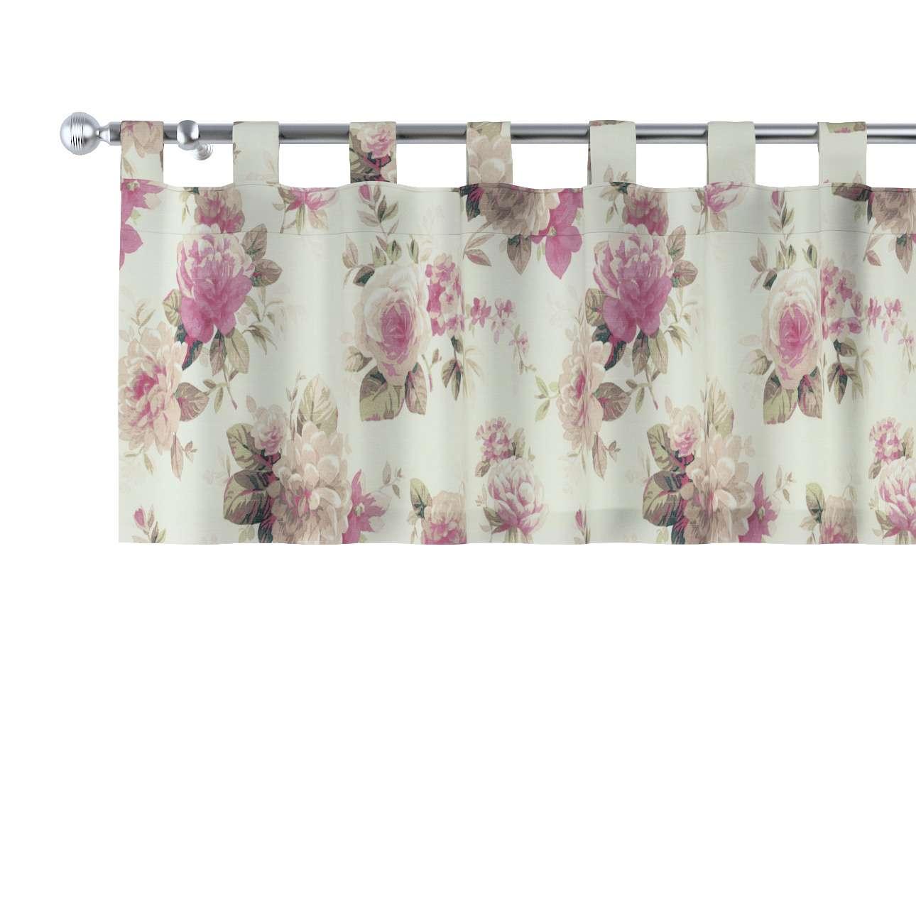 Gardinkappe med stropper 130 × 40 cm fra kolleksjonen Mirella, Stoffets bredde: 141-07