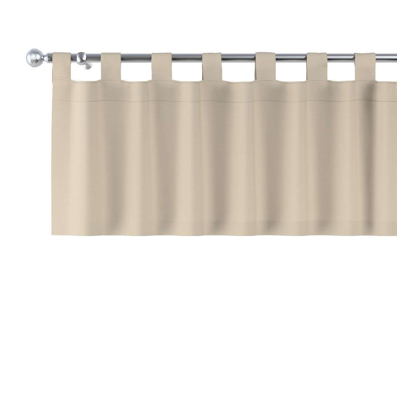 Trumpa užuolaidėlė (lambrekenas) kilpinis klostavimas 130x40cm kolekcijoje Cotton Panama, audinys: 702-01