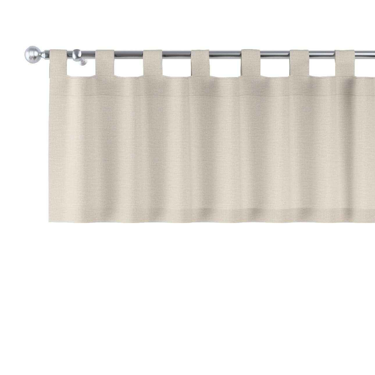 Trumpa užuolaidėlė (lambrekenas) kilpinis klostavimas 130x40cm kolekcijoje Linen , audinys: 392-05