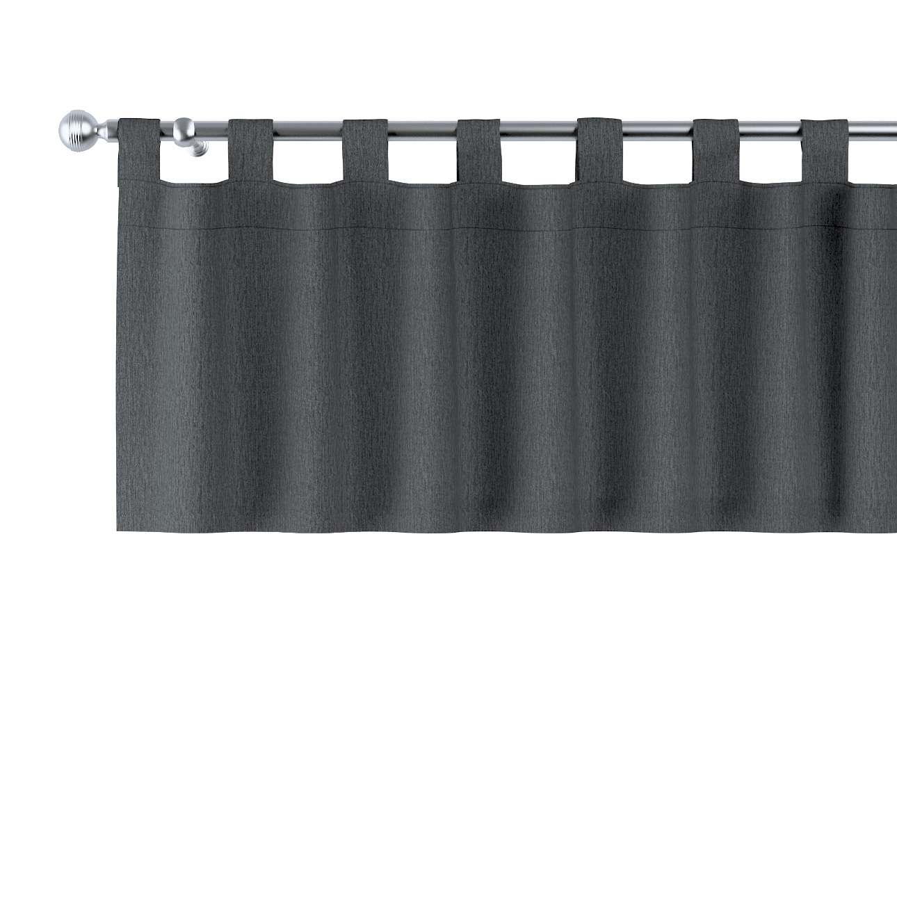 Gardinkappa med hällor i kollektionen Chenille, Tyg: 702-20