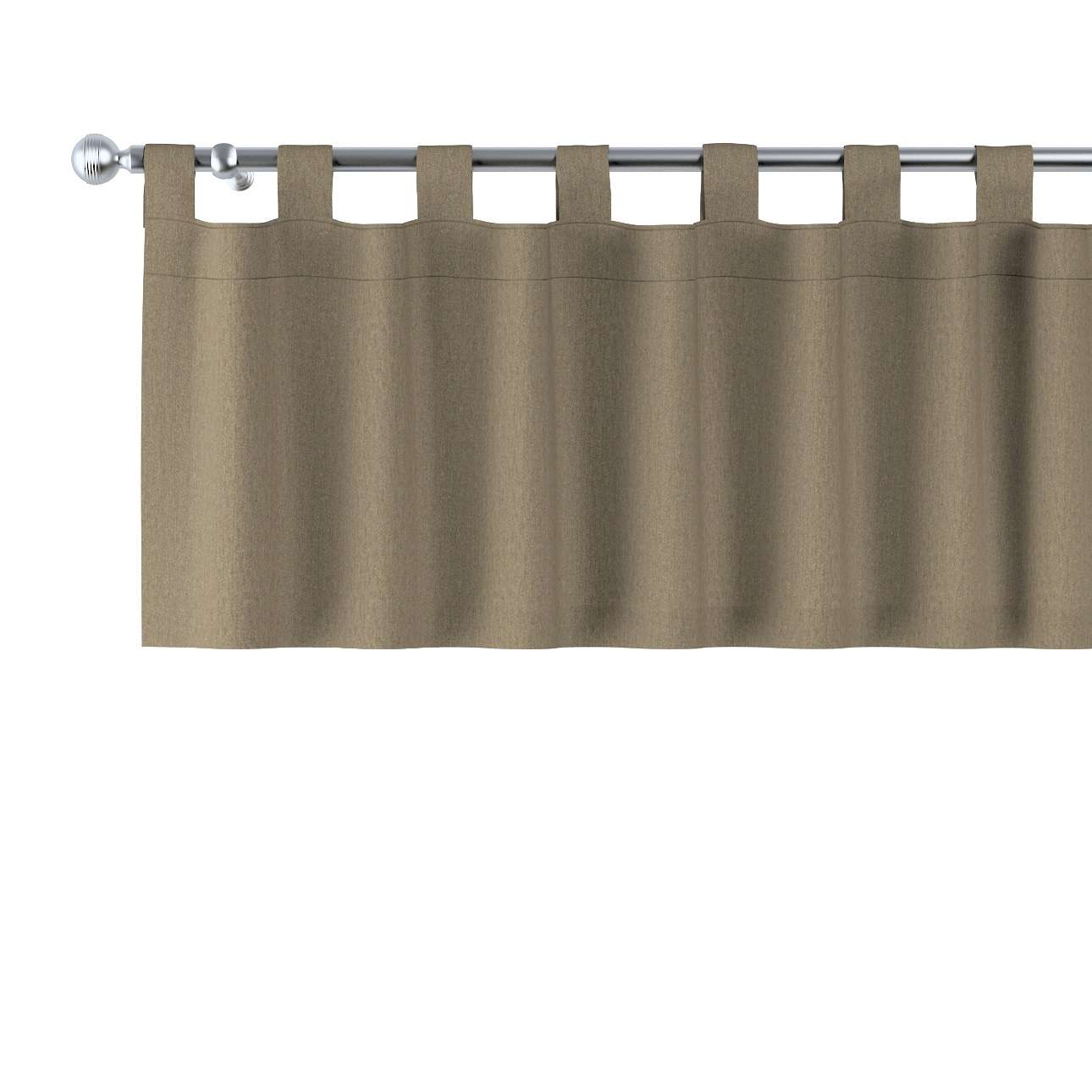 Trumpa užuolaidėlė (lambrekenas) kilpinis klostavimas 130x40cm kolekcijoje Chenille, audinys: 702-21
