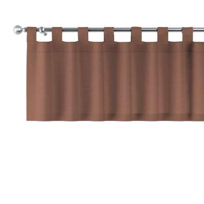 Krátky záves na pútkach 133-09 hnedá Kolekcia Loneta