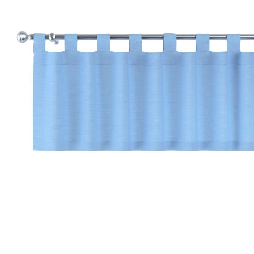 kurzgardine mit schlaufen blau dekoria. Black Bedroom Furniture Sets. Home Design Ideas
