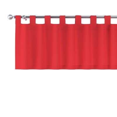 Krátky záves na pútkach 133-43 červená Kolekcia Loneta