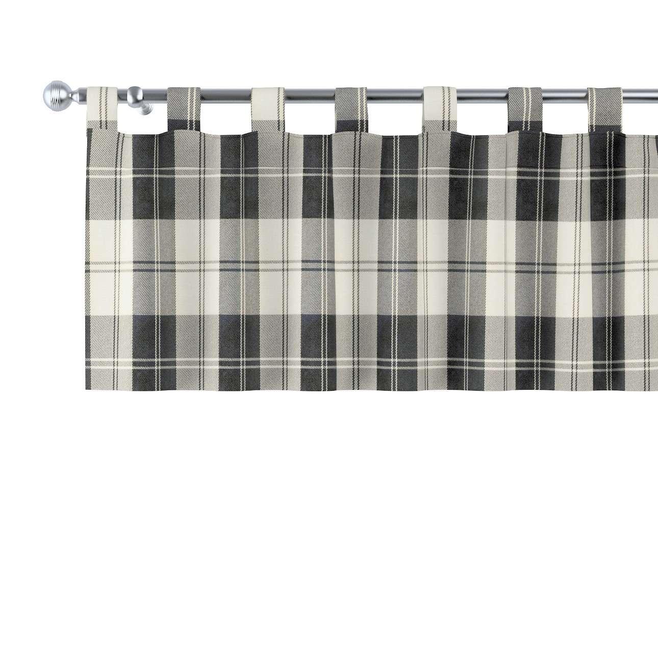 Trumpa užuolaidėlė (lambrekenas) kilpinis klostavimas 130x40cm kolekcijoje Edinburgh , audinys: 115-74