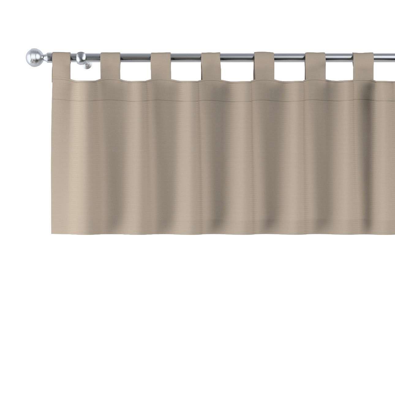 Trumpa užuolaidėlė (lambrekenas) kilpinis klostavimas 130x40cm kolekcijoje Cotton Panama, audinys: 702-28