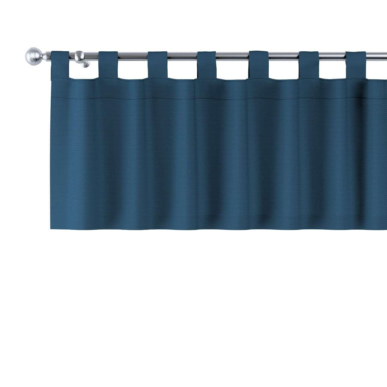 Kurzgardine mit Schlaufen 130x40cm von der Kollektion Cotton Panama, Stoff: 702-30