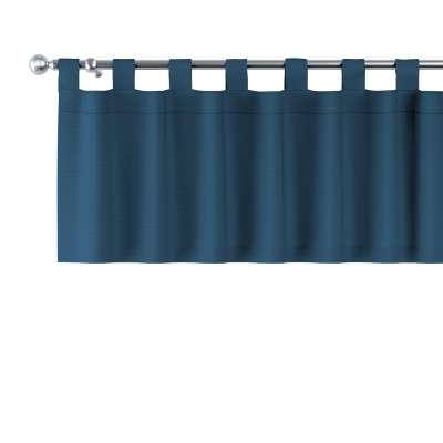 Krátky záves na pútkach 702-30 modrá morská Kolekcia Cotton Panama