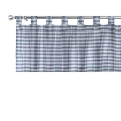 Lambrekin na szelkach 136-00 granatowo biała krateczka (0,5x0,5cm) Kolekcja Quadro